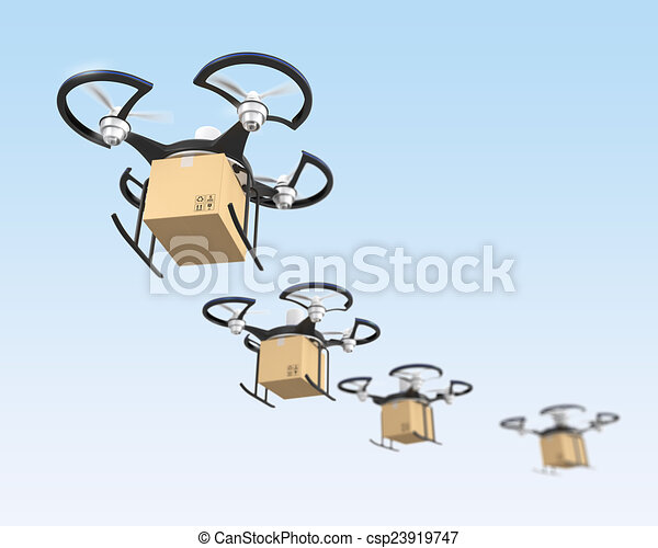 Air drone with carton package - csp23919747