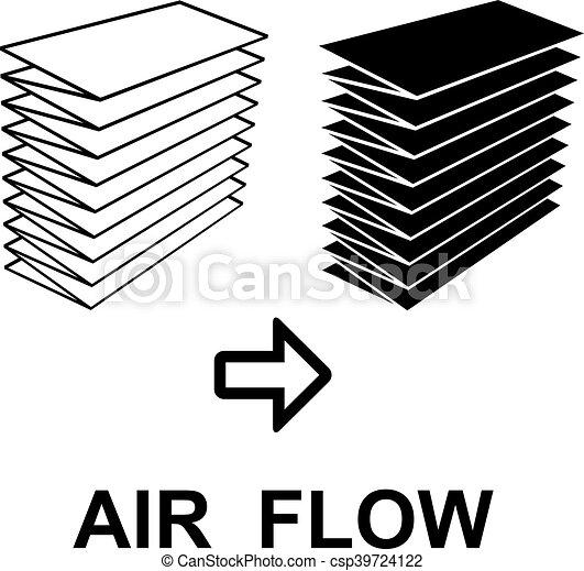 Air Filter Black Symbol Illustration For The Web Vector