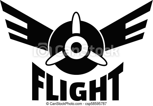 Air flight logo, simple style - csp58595787