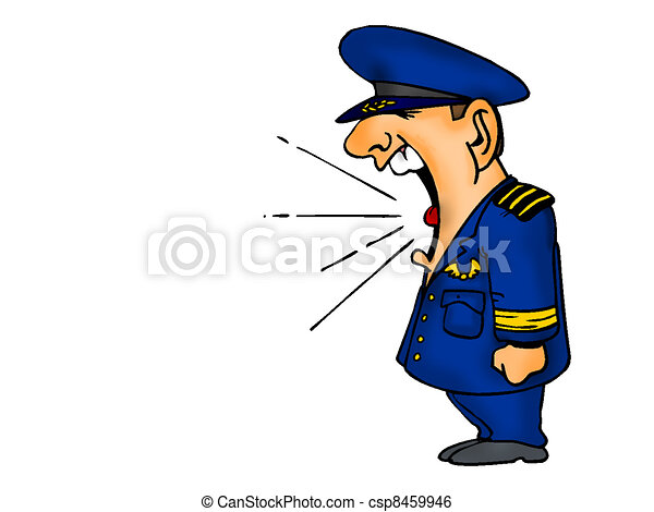 Air Force Cartoon Shouting - csp8459946