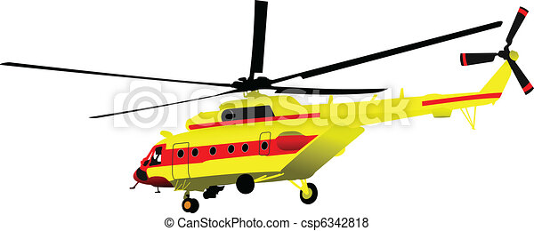 Air force. Combat helicopter. Vecto - csp6342818