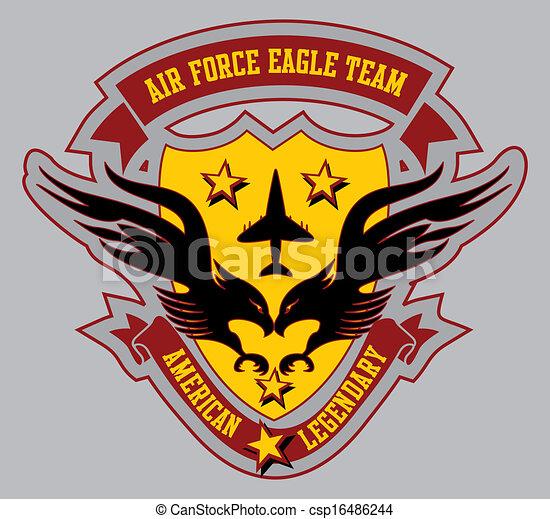 air force eagle team vector art - csp16486244