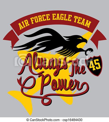 air force eagle team vector art - csp16484430