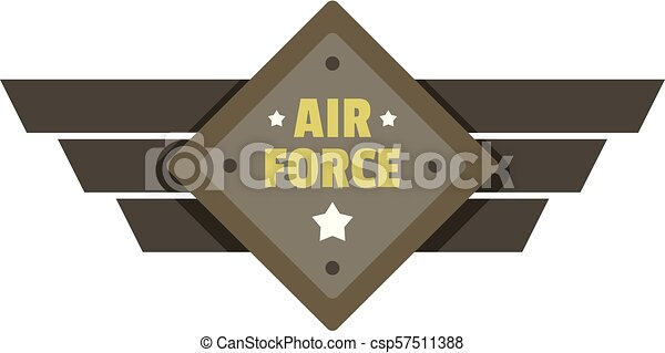 Air force icon logo, flat style - csp57511388