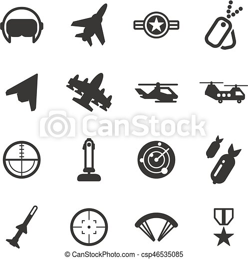 Air Force Icons - csp46535085