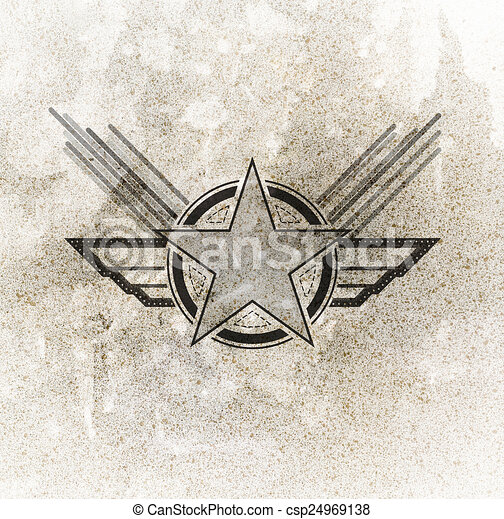 Awesome Air Force Military Symbol On Grunge Background   Csp24969138