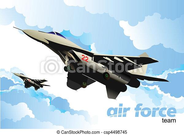 Air force team. Vector illustratio - csp4498745