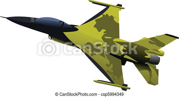 Air force team. Vector illustratio - csp5994349