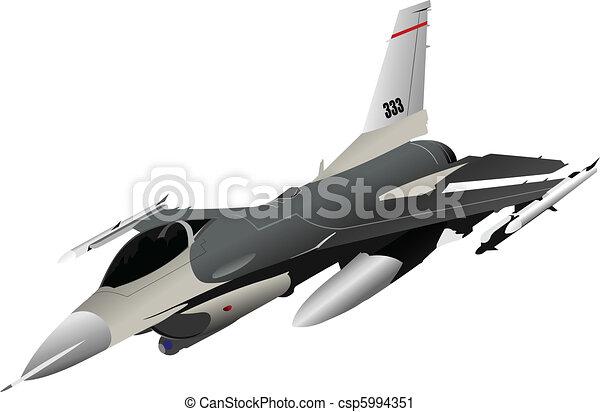 Air force team. Vector illustratio - csp5994351