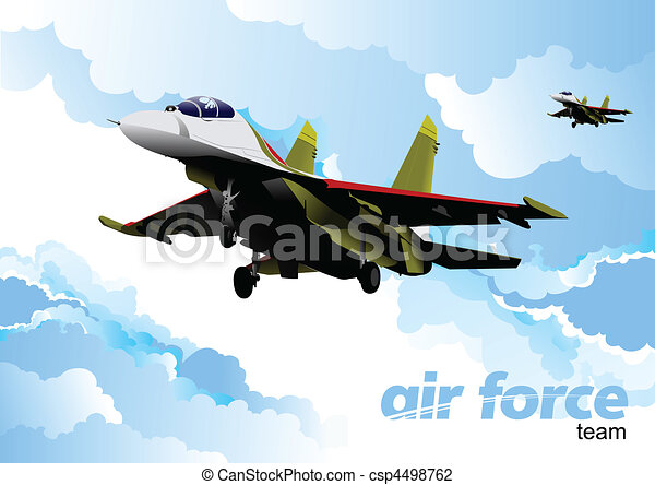 Air force team. Vector illustration - csp4498762