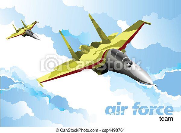 Air force team. Vector illustration - csp4498761