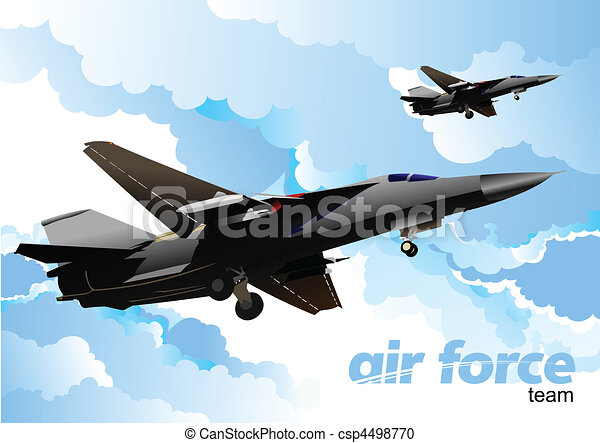 Air force team. Vector illustration - csp4498770
