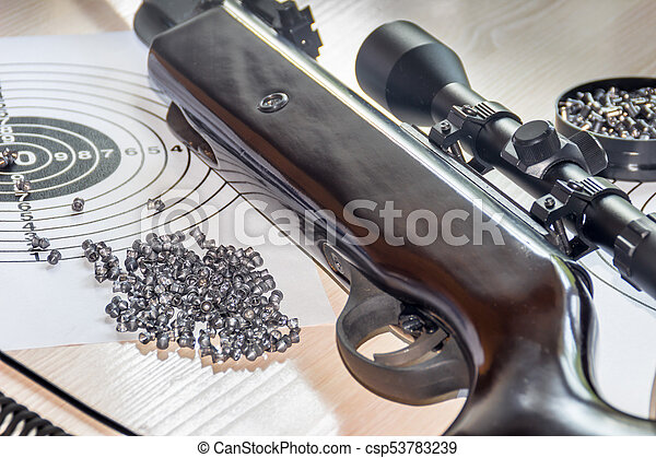 air gun with bullets targets