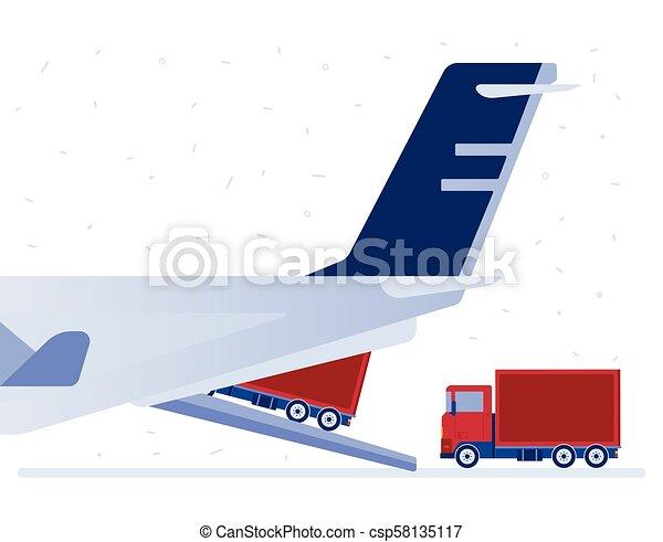 Air logistics vector illustration