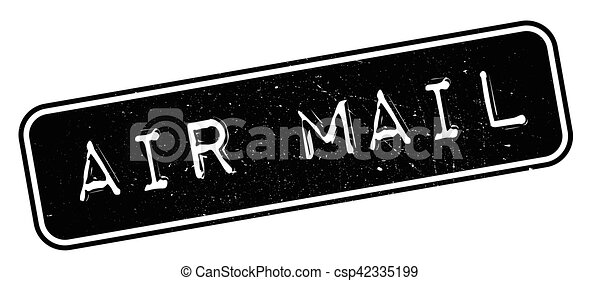 Air mail rubber stamp - csp42335199