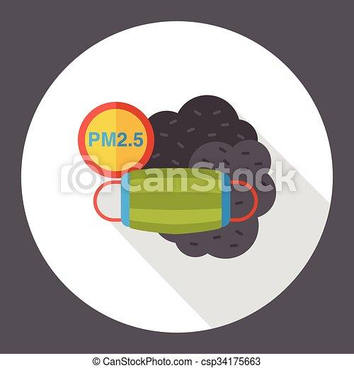 air masks flat icon - csp34175663