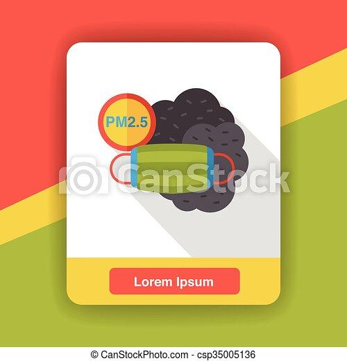 air masks flat icon - csp35005136