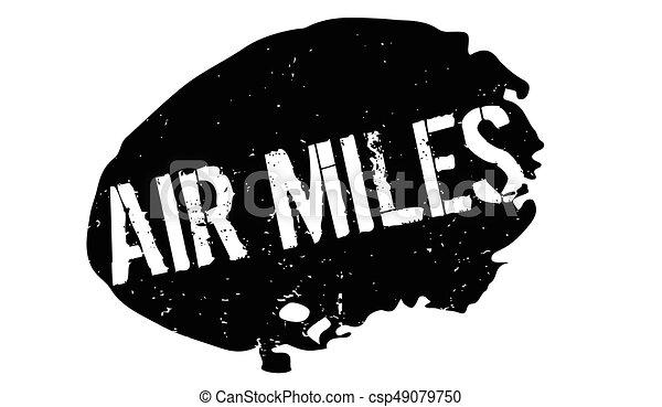 Air Miles rubber stamp - csp49079750