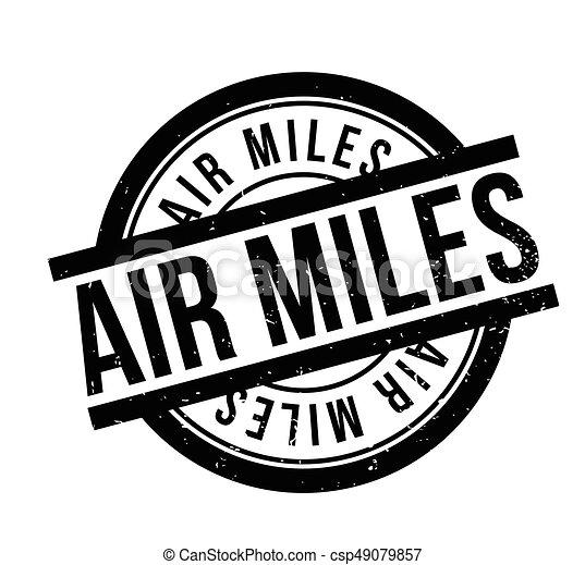 Air Miles rubber stamp - csp49079857