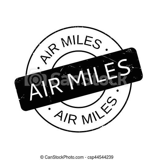 Air Miles rubber stamp - csp44544239