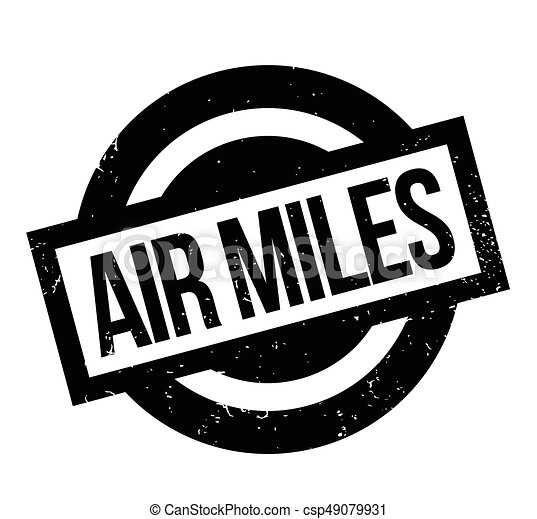 Air Miles rubber stamp - csp49079931