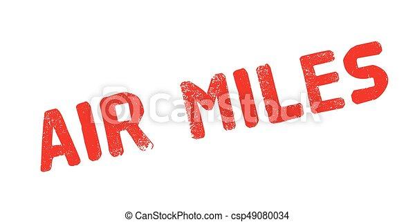 Air Miles rubber stamp - csp49080034