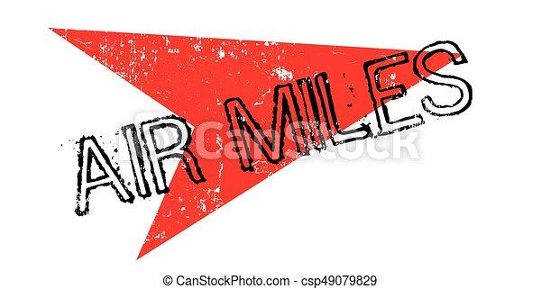 Air Miles rubber stamp - csp49079829