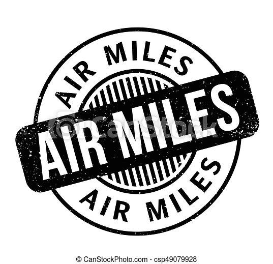 Air Miles rubber stamp - csp49079928