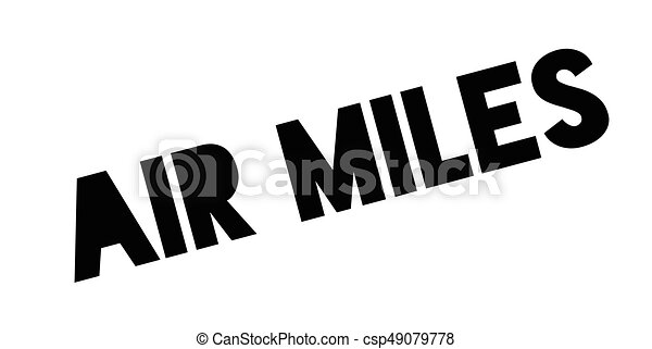 Air Miles rubber stamp - csp49079778