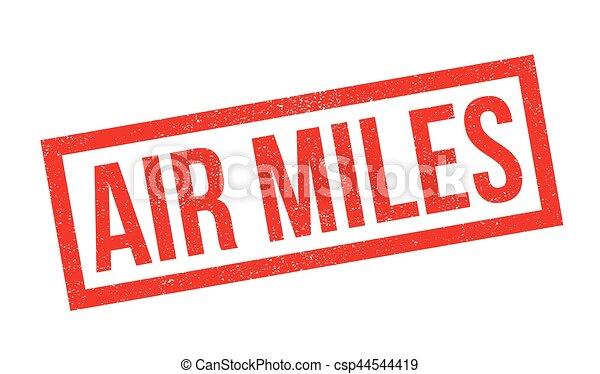 Air Miles rubber stamp - csp44544419