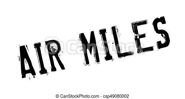 Air Miles rubber stamp - csp49080002