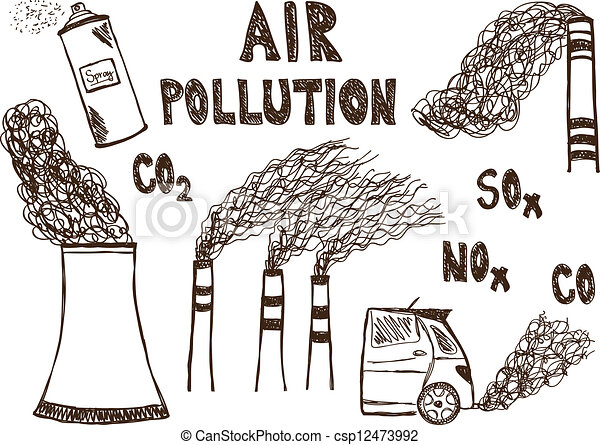 Air pollution doodle csp12473992