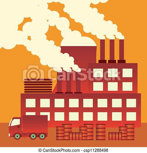 Pollution stock illustrationsby james20001 374 air pollution industrial complex with smokestacks blowing