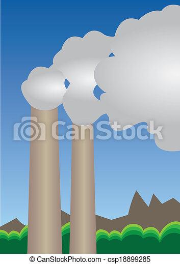 Air pollution csp18899285