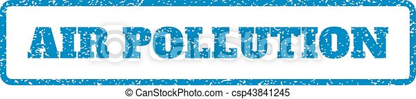 Air Pollution Rubber Stamp - csp43841245