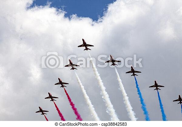 air show at London - csp38842583