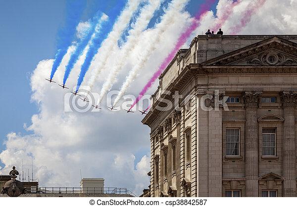 air show at London - csp38842587
