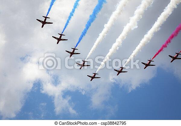 air show at London - csp38842795