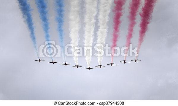 air show at London - csp37944308