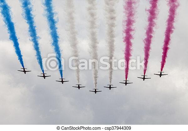 air show at London - csp37944309