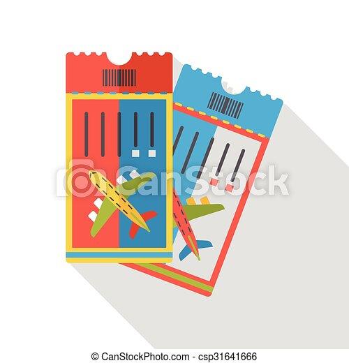 air ticket flat icon - csp31641666