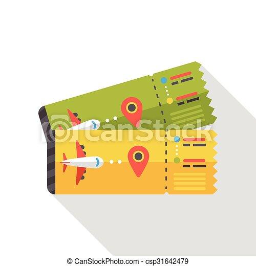 air ticket flat icon - csp31642479