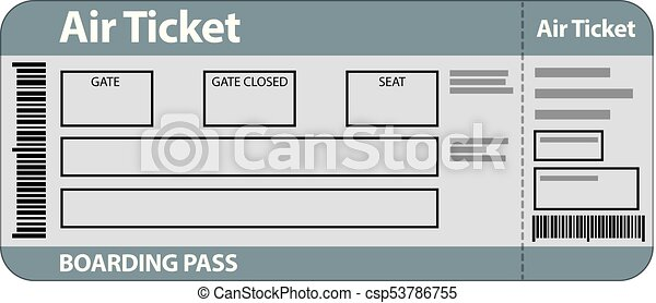 illustration of air ticket template for travel