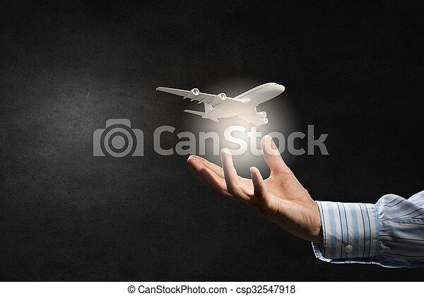 Air transportation concept - csp32547918
