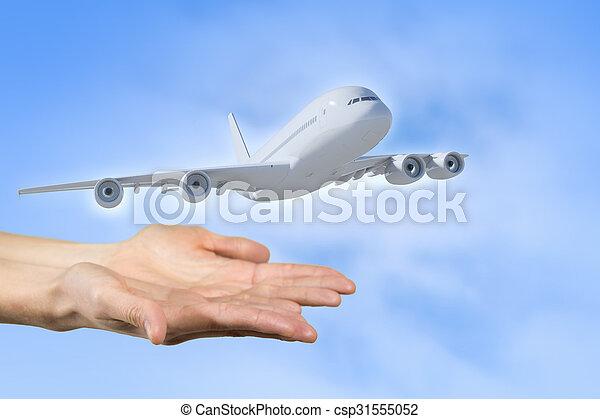 Air transportation concept - csp31555052