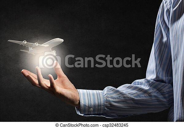 Air transportation concept - csp32483245