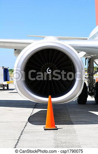 Air transportation: Jet engine detail - csp1790075
