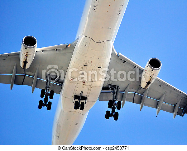 Air transportation: passenger airplane - csp2450771