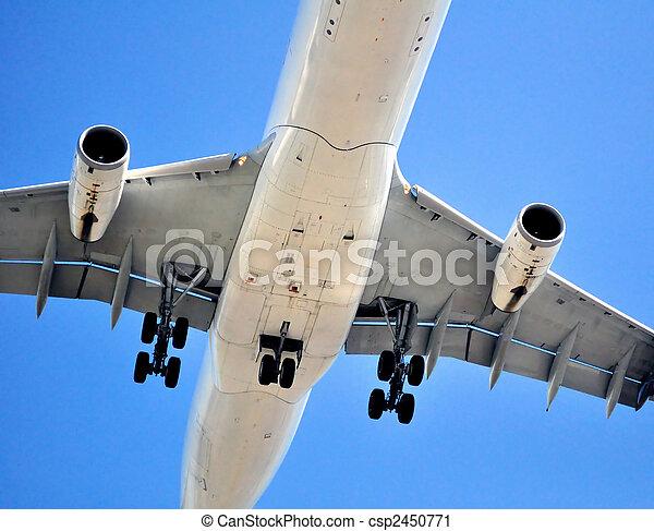 Air transportation: passenger airplane - csp2450771