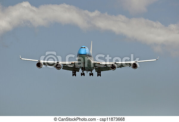 Air transportation: passenger airplane. - csp11873668